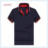 黑色高尔夫衫T恤衫/黑红撞色POLO衫